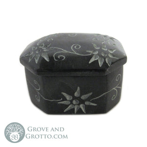 Mini Stone Box with Lid (Octagon) - Grove and Grotto