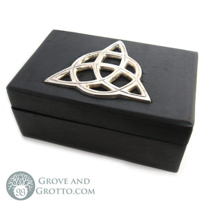 Black and Silver Triquetra Box - Grove and Grotto