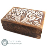 Carved Wooden Goddess Box - Grove and Grotto
