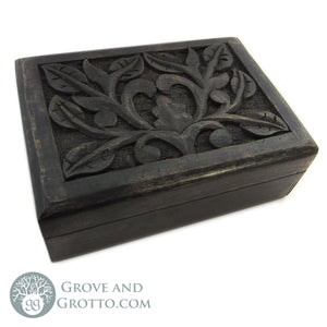 Lilac Dark Wood Box - Grove and Grotto