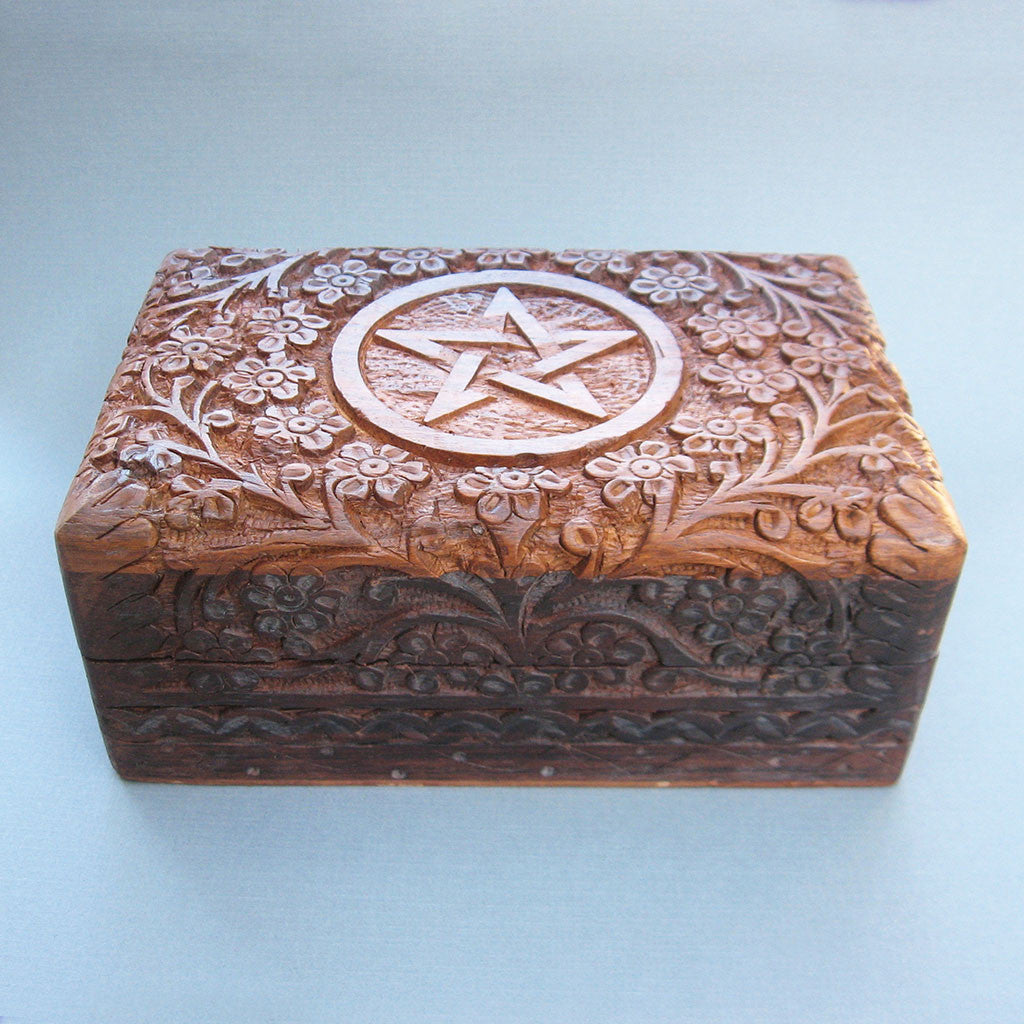 Floral Pentagram Tarot Box - Grove and Grotto