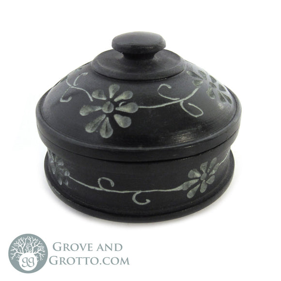 Mini Stone Box with Lid (Daisy)