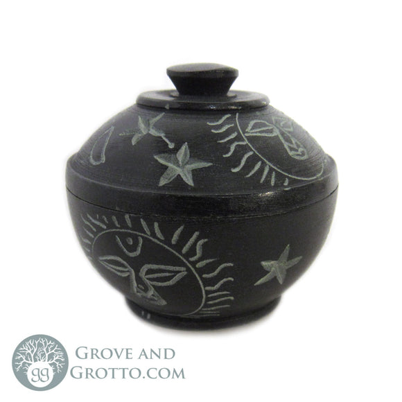 Mini Stone Box with Lid (Celestial) - Grove and Grotto