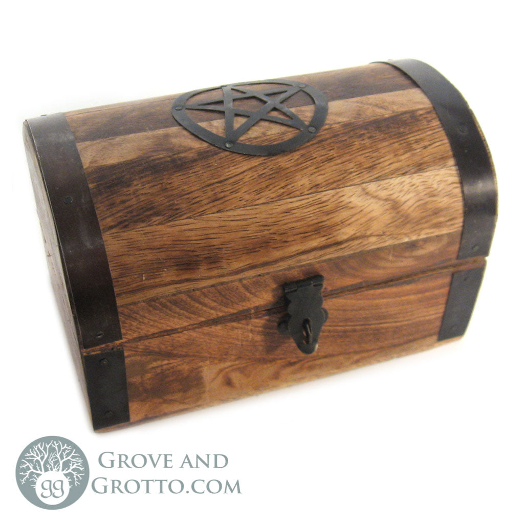 Pentacle Wooden Chest 4x6""