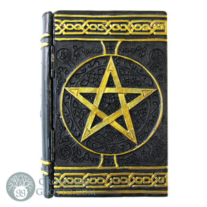 Pentagram Book Box (Gold and Black)