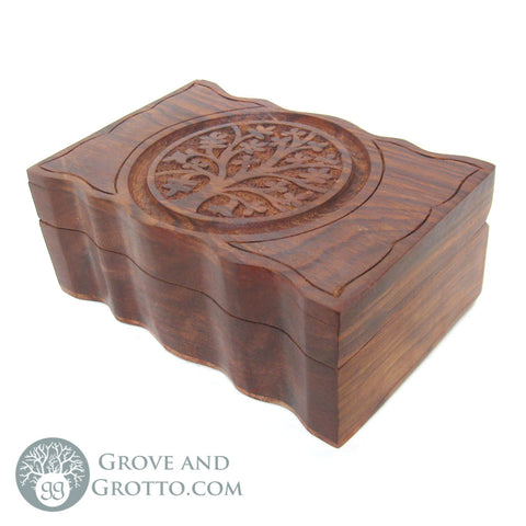 Scalloped Tree of Life Box - Grove and Grotto