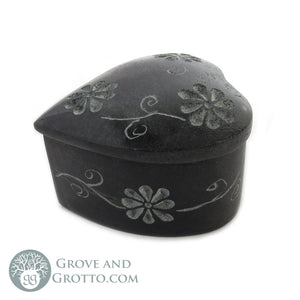 Mini Stone Box with Lid (Heart)