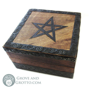 Pentagram Box with Metal Trim - Grove and Grotto