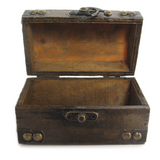 Mini Treasure Chest with Brass Latch