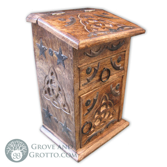 Triquetra Altar Cabinet - Grove and Grotto