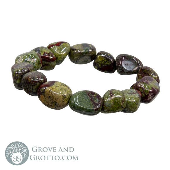 Tumbled Dragon's Blood Stone Bracelet - Grove and Grotto