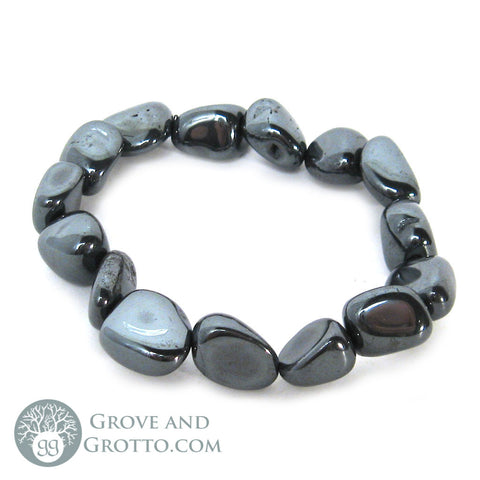 Tumbled Hematite Bracelet - Grove and Grotto