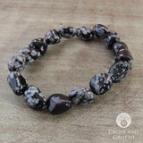 Tumbled Snowflake Obsidian Bracelet - Grove and Grotto