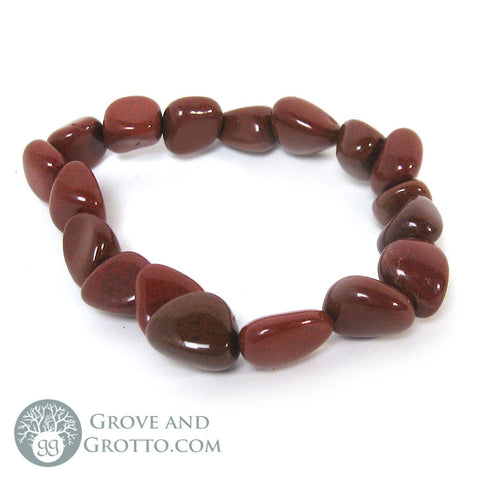 Tumbled Red Jasper Bracelet - Grove and Grotto
