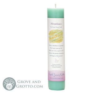 Crystal Journey Herbal Magic Candle - Abundance - Grove and Grotto