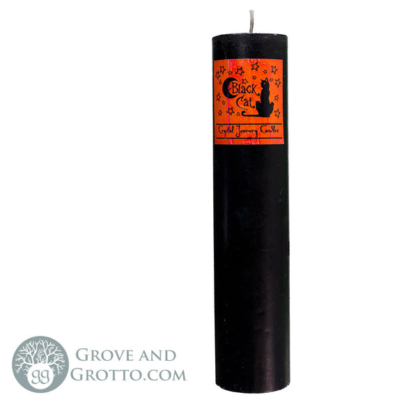 Crystal Journey Herbal Magic Candle - Black Cat - Grove and Grotto