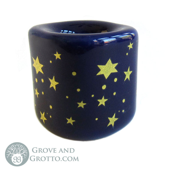 Celestial Chime Candle Holder (Blue and Gold)