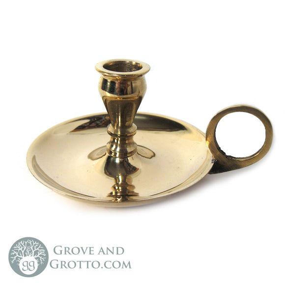 Mini Brass Chime Candle Holder