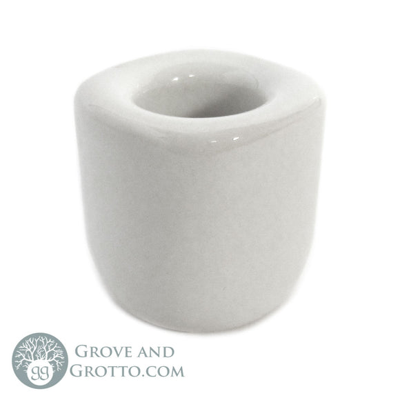 Ceramic Chime Candle Holder (White) - Grove and Grotto