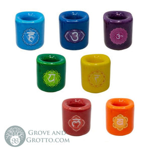 Seven Chakras Candle Holder Set - Grove and Grotto