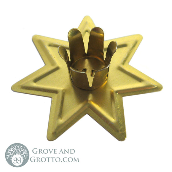 Faery Star Chime Candle Holder (Gold) - Grove and Grotto