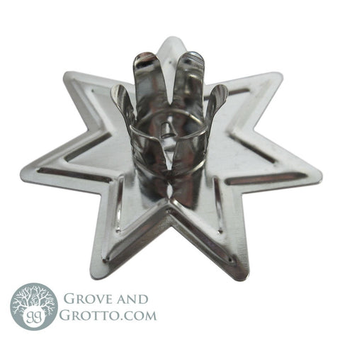 Faery Star Chime Candle Holder (Silver)