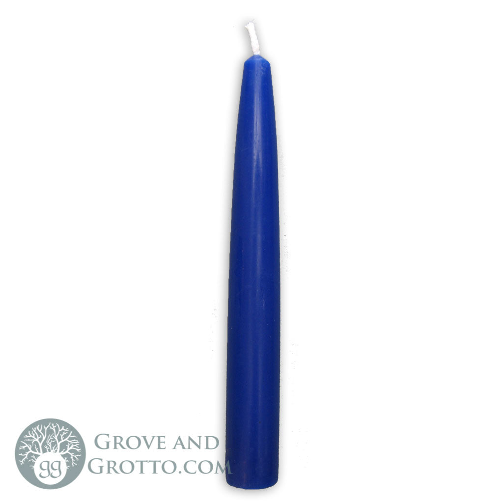 "6"" Premium Taper Candle (Blue) - Grove and Grotto"