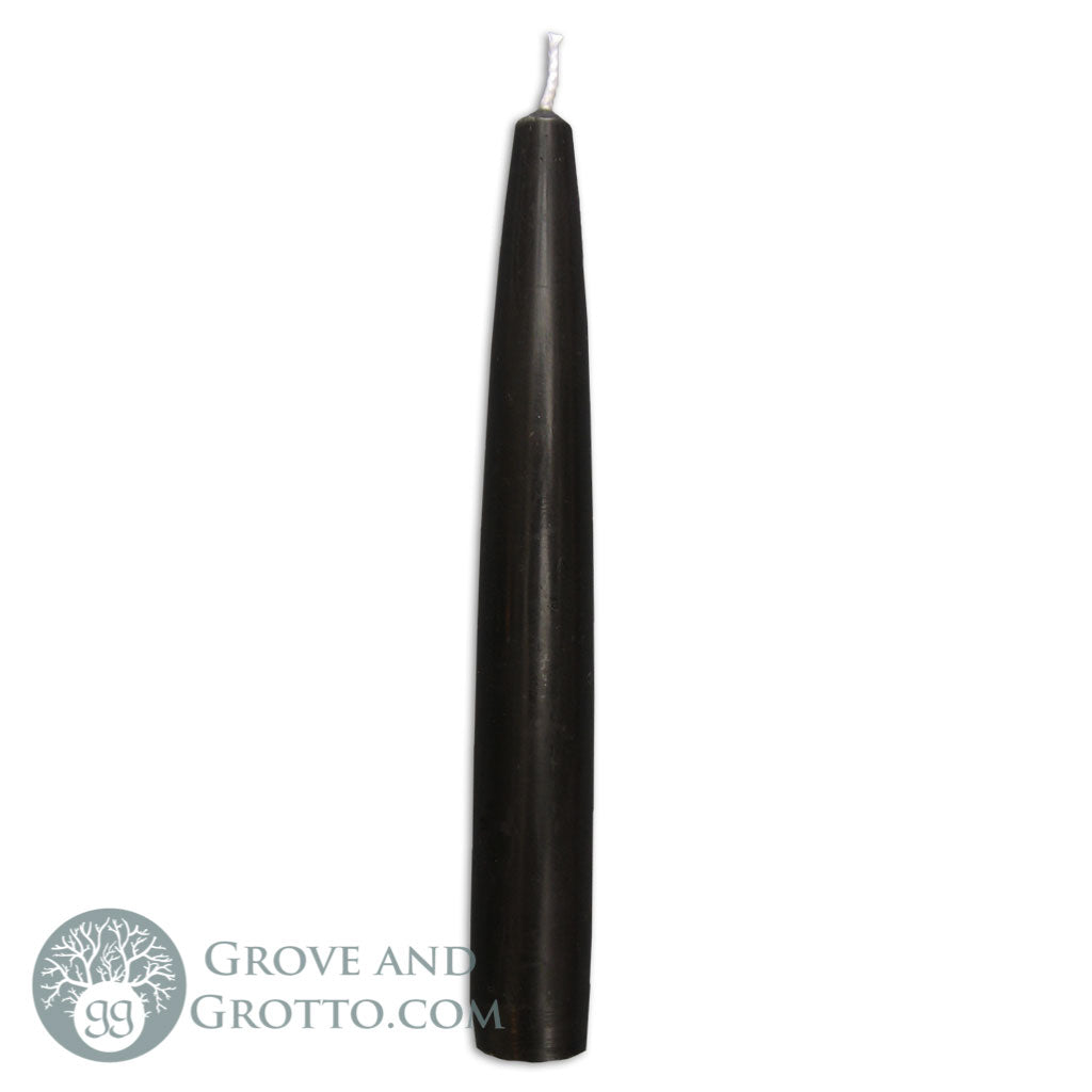 "6"" Premium Taper Candle (Black) - Grove and Grotto"