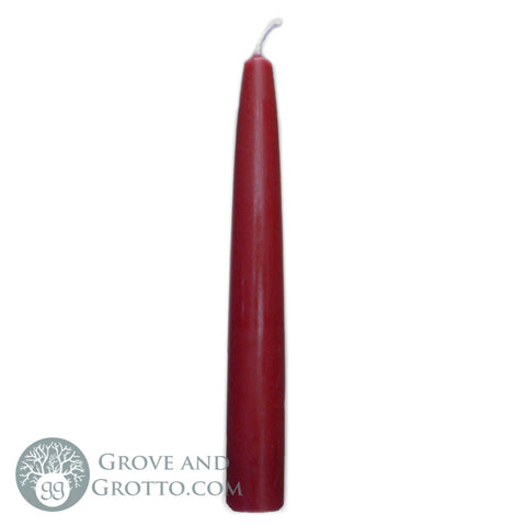 "6"" Premium Taper Candle (Burgundy) - Grove and Grotto"