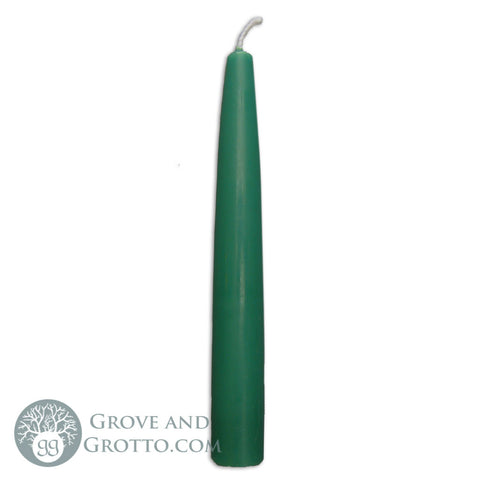 "6"" Premium Taper Candle (Green) - Grove and Grotto"