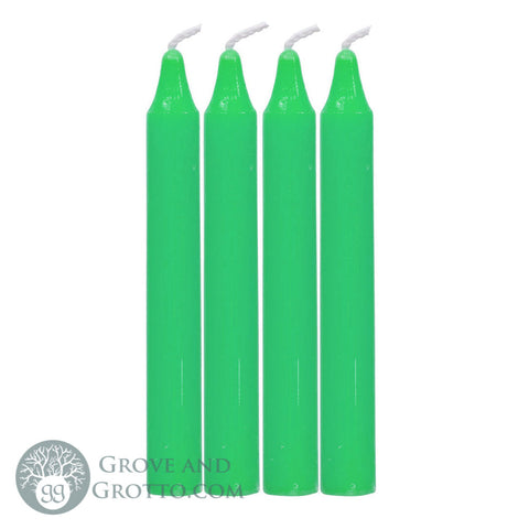 Light Green Mini Spell Candle (Pack of 4) - Grove and Grotto