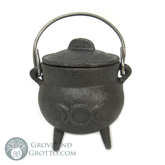 Triple Moon Cast Iron Cauldron - Grove and Grotto