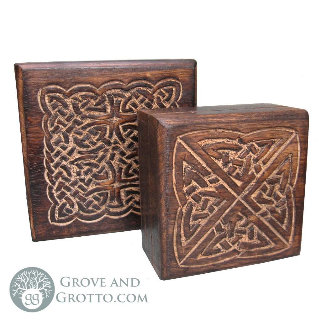 Celtic Knot Square Boxes (Set of 2) - Grove and Grotto