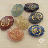 Engraved Chakra Stone Set with Bag - Grove and Grotto