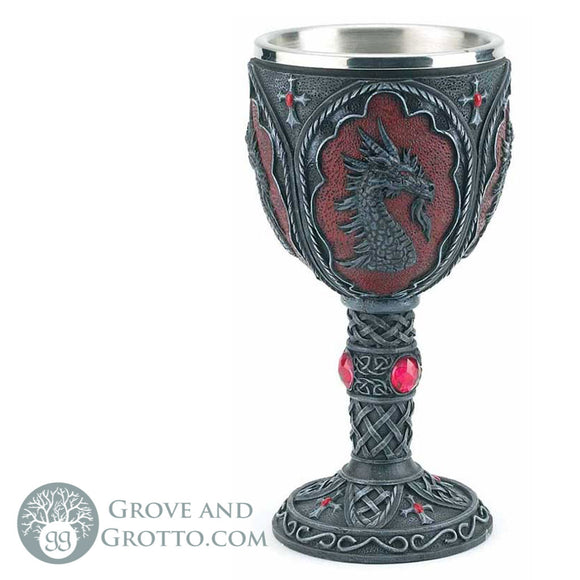 Medieval Dragon Chalice - Grove and Grotto