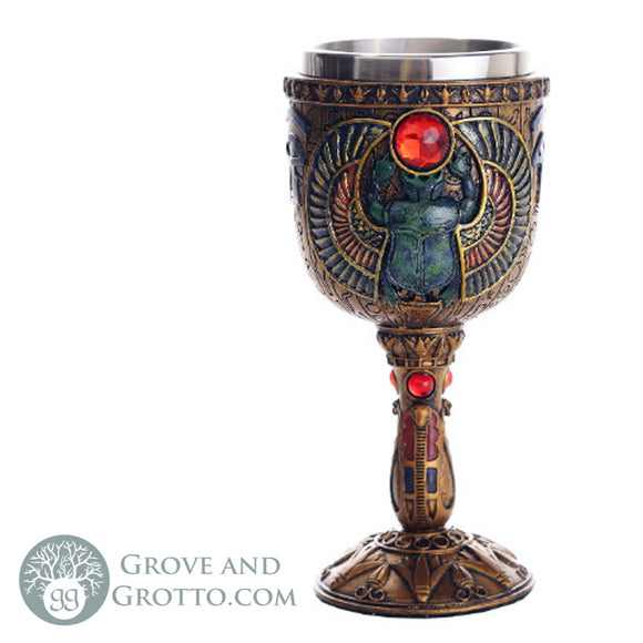 Egyptian Scarab Chalice - Grove and Grotto