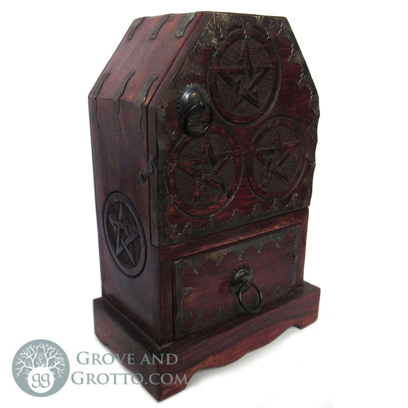 Medieval Pentagram Chest - Grove and Grotto