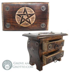 Two-Drawer Pentagram Chest - Grove and Grotto