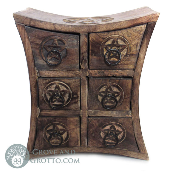 Vintage Wood Pentagram Chest
