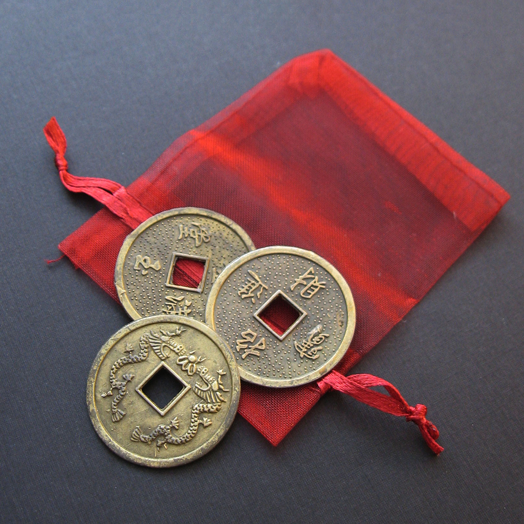 I Ching Coins (Set of 3) - Grove and Grotto
