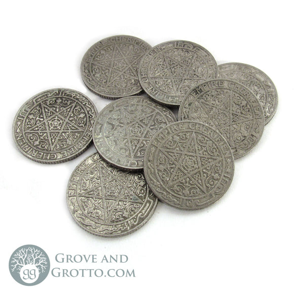 Vintage Pentagram Coin (Large) - Grove and Grotto