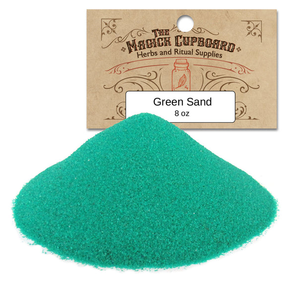 Sand for Incense Burners (8 oz) - Green