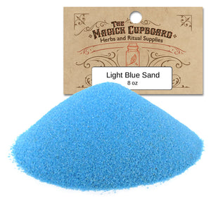 Sand for Incense Burners (8 oz) - Light Blue