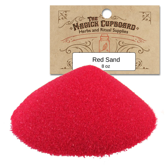 Sand for Incense Burners (8 oz) - Red