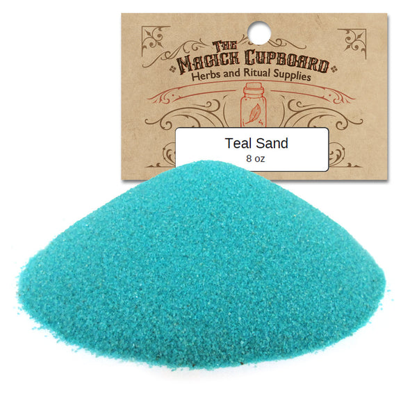 Sand for Incense Burners (8 oz) - Teal
