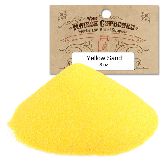 Sand for Incense Burners (8 oz) - Yellow