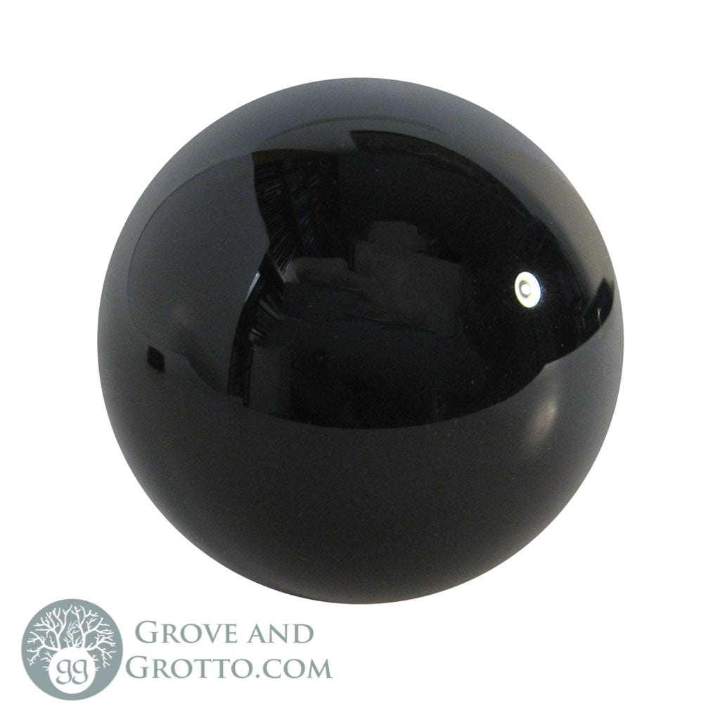 Black Crystal Ball (50 mm) - Grove and Grotto