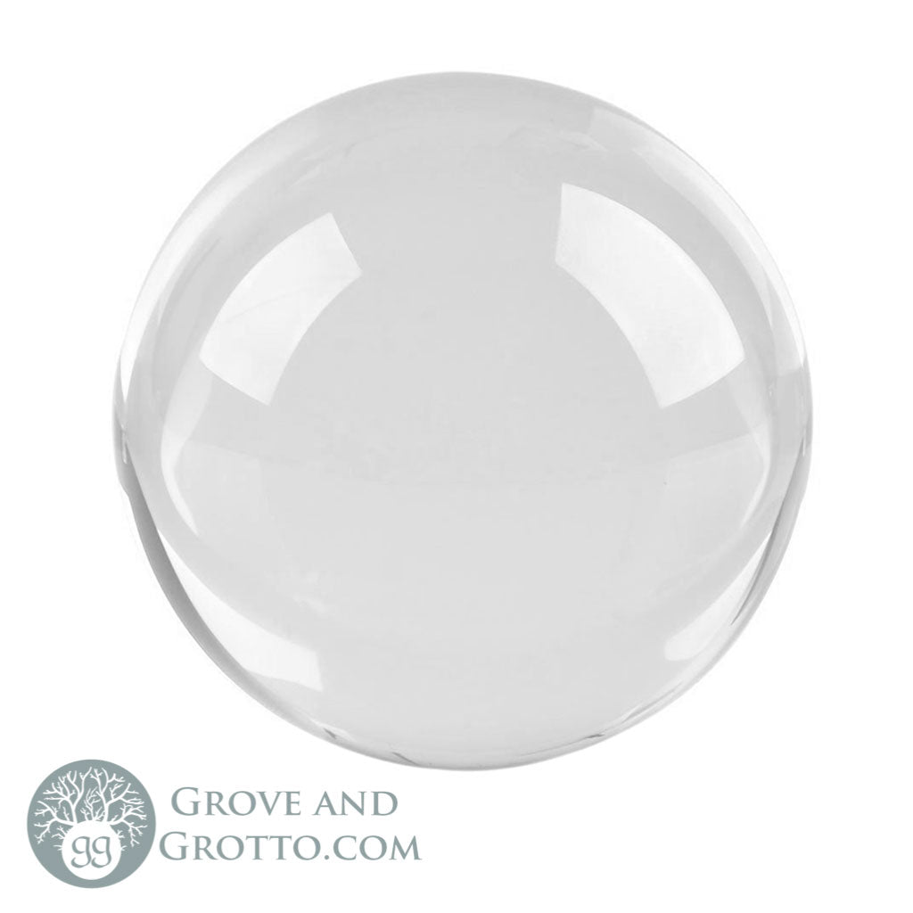 Clear Crystal Ball (50 mm) - Grove and Grotto