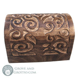 Spiral Tree Chest with Domed Lid - Grove and Grotto