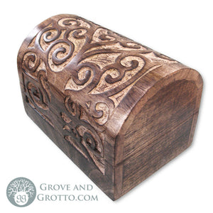 Spiral Tree Chest with Domed Lid